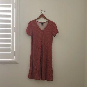 ASOS Maternity Dress Polka Dot Rust Size 8